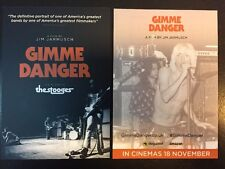 THE STOOGES GIMME DANGER (Double sided Promo Flyerx2) NEW/MINT IGGY POP JARMUSCH