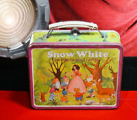 """1980 """"SNOW WHITE and the SEVEN DWARFS"""" Metal Lunch Box - Ohio Art vtg LUNCHBOX"""