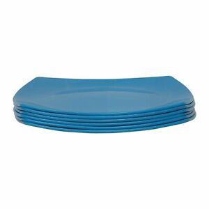Plastic Square Shape Freezer Unbreakable Micro Dishwasher Plates Set of 6 Pcs