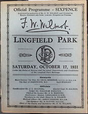 More details for lingfield race card 1931