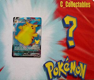 Pokemon Card Surfing Pikachu VMAX 009/025 Celebrations 25th Anniversary Holo