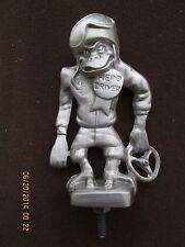 very rare, vintage monkey hero driver,hot rod, rat rod, car hood ornament