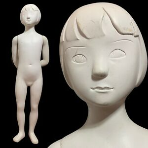 PUCCI Vintage Smiling Abstract Young Boy Mannequin Creepy Decor Oddity