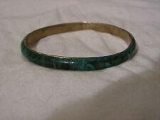 ...Vintage Malachite Gemstone Bangle Bracelet...