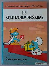PEYO / LES SCHTROUMPFS 2  * LE SCHTROUMPFISSIME  *  EO DOS ROND 1965  TTBE/NEUF
