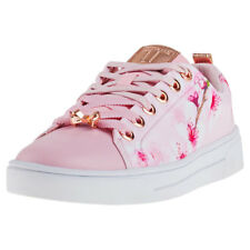 Ted Baker Womens Peach Blossom Black Ahfira Trainers Size 3 - 8 UK 7 Pink