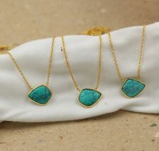Solid 925 Sterling Silver Turquoise Gemstone Necklace 3 Pieces Wholesale Lot
