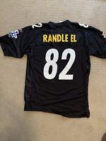 PITTSBURGH STEELERS #82 ANTWAAN RANDLE-EL REEBOK black JERSEY MENs size Large