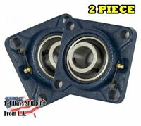 "UCF208-24 Pillow Block Flange Bearing 1-1/2"" Bore 4 Bolt Solid Base (2PCS)"