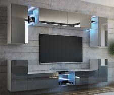 wohnw nde in grau ebay. Black Bedroom Furniture Sets. Home Design Ideas