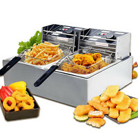 1800W 16L Commercial Electric Deep Fryer French Fry Bar Restaurant Tank w/Basket