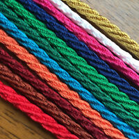 "BERISFORDS BARLEY TWIST ROPE /CORD 5MM x 4M (13/64"") -CHOOSE YOUR COLOUR***"