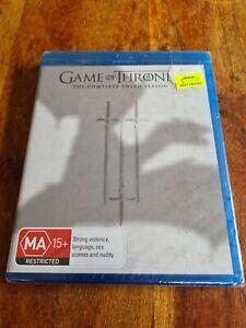 Game Of Thrones Season 3 Third Blu-Ray 5-Discs Region B Australia New bluray blu
