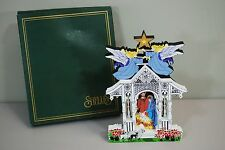 Shelia's Town Square Nativity Holy Family 1997 First Edition Wood Scroll Cut Out