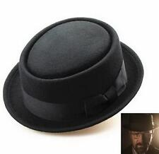 Wool Felt Crushable Porkpie Vintage Round Short Brim Fedora Hat Cap Hot