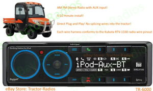 Kubota Direct Plug & Play AM FM AUX Stereo Tractor Radio RTV B2650 RTX 1100 KX