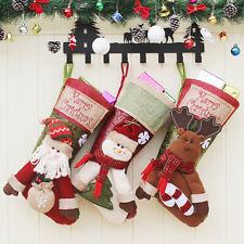 Christmas Stockings Santa Reindeer SnowmanTree Fireplace Decoration Gift Bags