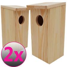 2x Nistkasten Vogelhaus Vogelhäuschen Nisthaus Meisenkasten Vogelnistkasten Holz