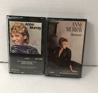 Anne Murray Harmony 2 Cassette Tapes Music - Heart Over Mind & Harmony