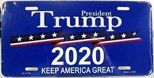 President Trump 2020 license plate.  Aluminum auto tag  Made in U.S.A. LP-11710