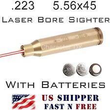 .223 5.56mm Laser Bore Sight BRASS Cartridge 5.56x45 In-Chamber Boresighter RL01