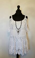 "NEW Stunning ""TIERED COLD SHOULDER"" Italian LaGeNLooK LINED ~BOHO ~STRAP TOP 44"""