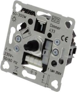 PEHA 433 Phasenanschnittdimmer 60-300W  Drehdimmer Dimmer Phasenanschnitt