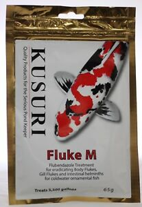 KUSURI FLUKE-M 65g. Gill and Body Fluke Treatment. Koi Pond Fish, Discus