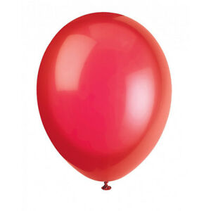 Pack of 8 Flame Red Pearlised 12 inch Balloons - Latex Party Balloon