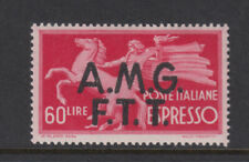 Trieste Zone A Sc E4 Express Mail 60 Lire Carmine VF Mint Never Hinged