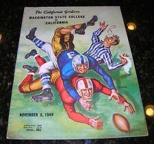 1949 WASHINGTON STATE COUGARS vs CALIFORNIA GOLDEN BEARS NCAA Football Program