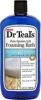 Dr Teal's Pure Epsom Salt Foaming Bath, Detoxify - Energize 34 oz (Pack of 2)