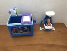 Barbie I Can Be Caregiver Babysitter Baby Wet N Drinks Krissy Fisher Price Swing