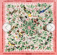 Vintage Hermes silk scarf Les Merises birds and cherries