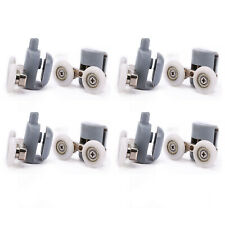 4 Pcs Twin Top & Bottom Shower Glass Door Rollers Runners Wheels 25mm Diameter