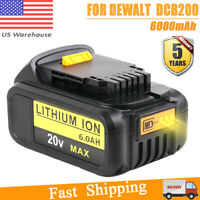 20Volt For Dewalt DCB205-2 Max XR 6.0Ah Lithium Ion Battery DCB203 DCB204 DCB206