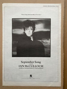 IAN MCCULLOCH SEPTEMBER SONG POSTER SIZED original music press advert from 1984