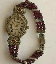 Gem Time Women's  Wrist Quartz Watch Ox Blood Beads
