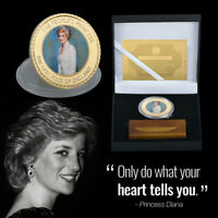 WR Princess Diana Gold  Commemorative Coin Wedding Anniversary Gifts Box