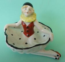 Cute 20s Pierrette pin tray / half doll related