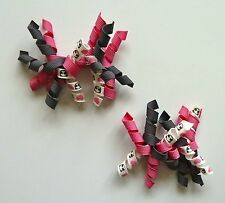 Gymboree Girls Hair Clips x 2 - Pink, Grey and White with Panda, Brand New (G2)