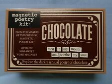NEW CHOCOLATE Magnetic Poetry Kit