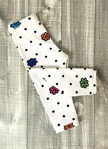 Gr. 68 lange Baby Leggins Hose Babyhose Mädchen Handarbeit Regenbogen