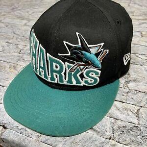 New Era San Jose Sharks Hockey Snapback Hat NHL All Over Mega Big Logo Youth