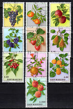 San Marino - 1973 Fruits - Mi. 1031-40 VFU