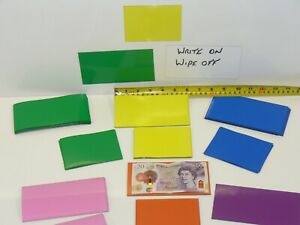 Magnetic Rack Labels 80 x 110mm or 80mm x 150mm Strips White Board Dry Wipe
