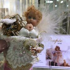 Retired OOAK HAND SCULPTED Miniature ANGEL DOLL ORNAMENT Pam Mason Sculptress