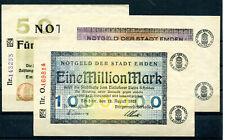 Emden 50.000 + 100.000 und 1 Million Mark Notgeld ........................2/7859