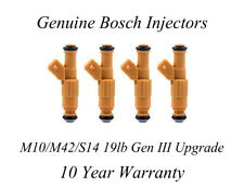 BMW E30 M10 M42 S14 19lb Injector Upgrade - Genuine Bosch Gen III - yellow