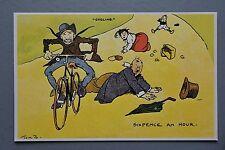 R&L Postcard: Chimera Arts Sporting Tom Browne Repro, Accident Bicycle Bike